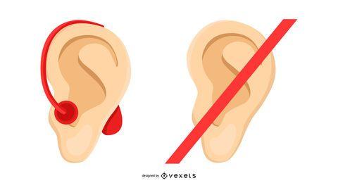 Gehörloses Gemeinschaftsillustrationsdesign