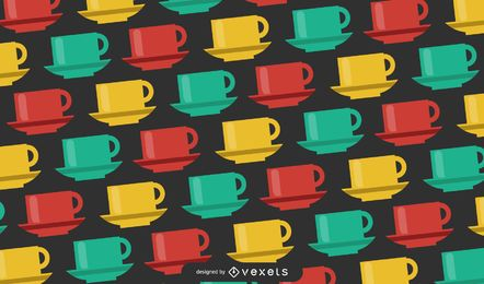 Multicolored Mugs Pattern Design