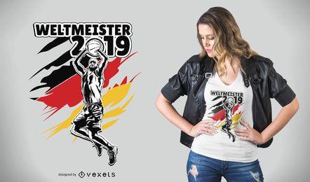 Diseño de camiseta de baloncesto WorldCup