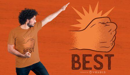 Melhores brotos 1 design de t-shirt