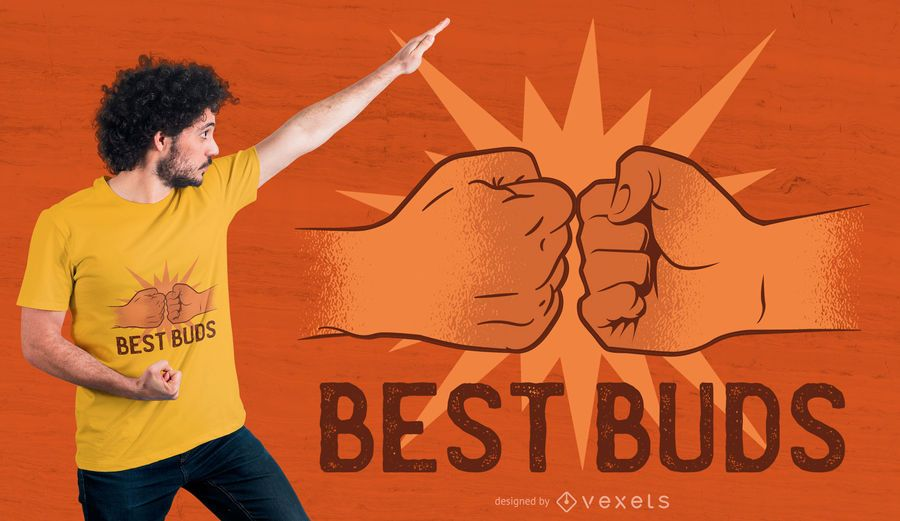 Best buds t-shirt design