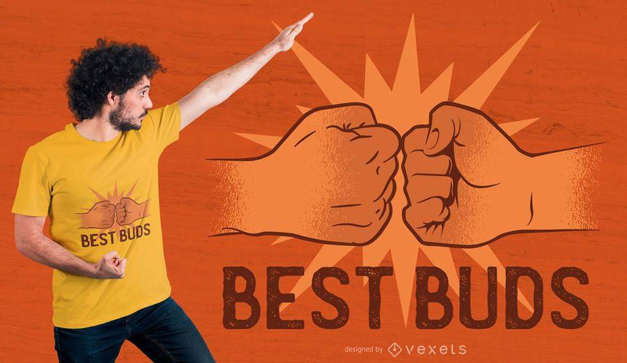 Melhor design de t-shirt de botões
