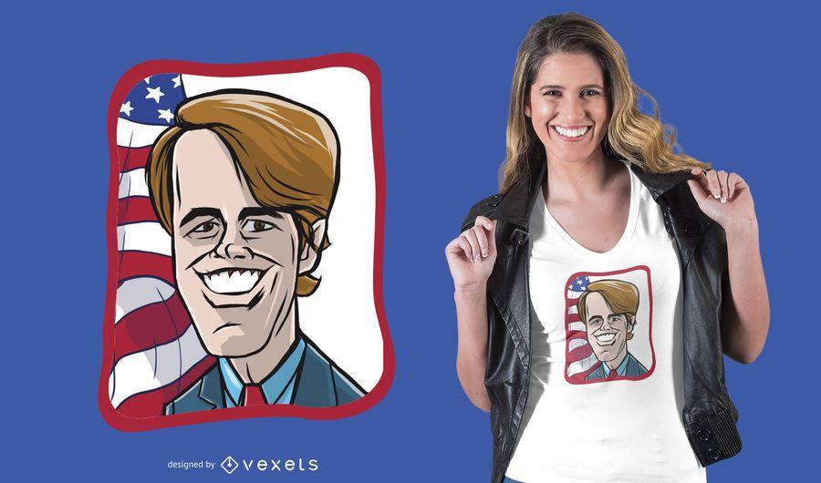Beto O Rourke Cartoon T-shirt Design