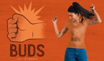 Diseño de camiseta Best Buds 2