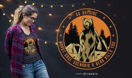 Gehen Sie außerhalb des T-Shirt Entwurfs