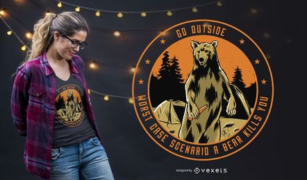 Go Outside T-shirt Design