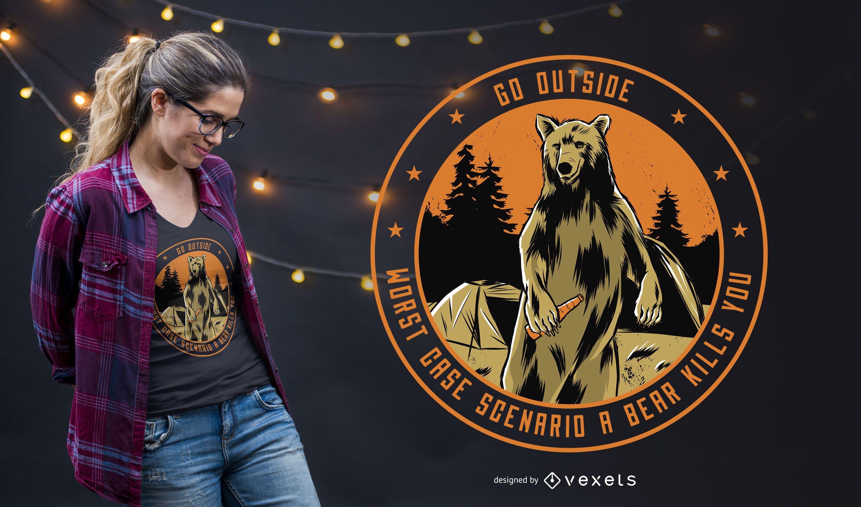 Go Outside T-shirt Design