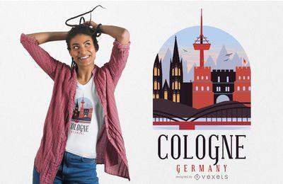 Diseño de camiseta de Colonia Alemania