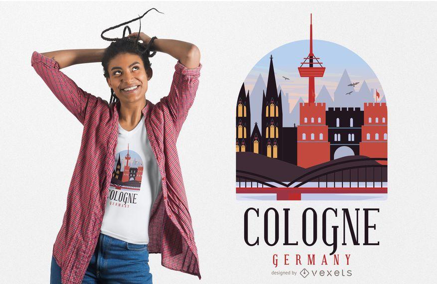 Design de t-shirt de Colônia Alemanha