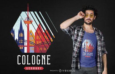 T-shirt Design De Colónia