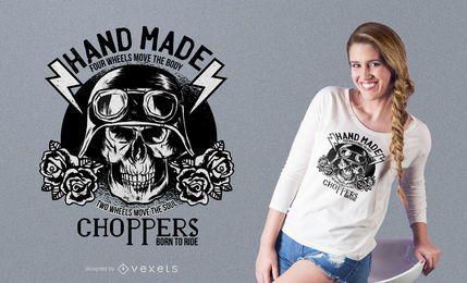 Diseño de la camiseta de la cita de la moto