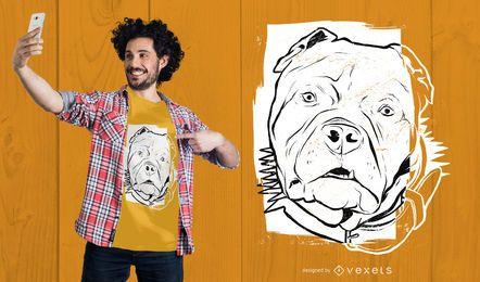 Projeto do t-shirt do esboço de Pitbull