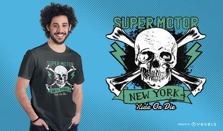 Design de camiseta super motor