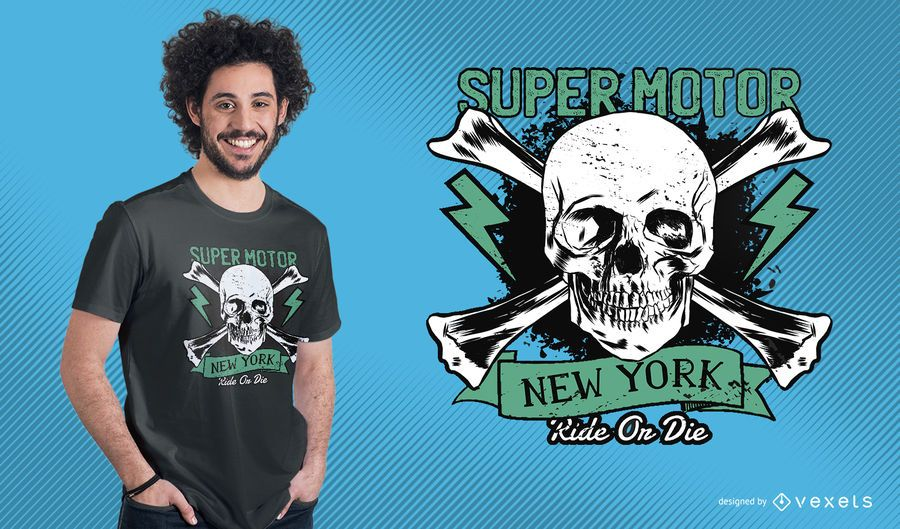 Diseño de camiseta Super Motor