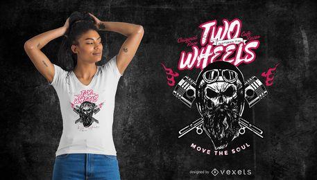 Design de camiseta de duas rodas