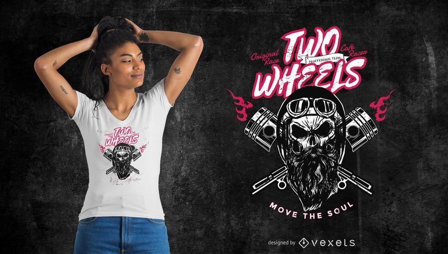 T-Shirt Design mit zwei Rädern