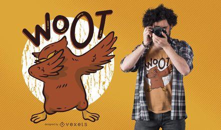 Diseño de camiseta Dabbing Owl