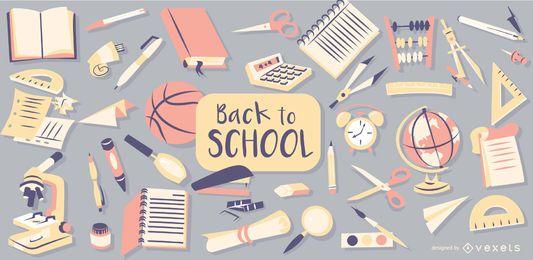 Zurück zur Schule Vektor-Design