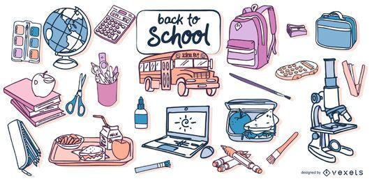 De volta ao projeto do vetor da escola