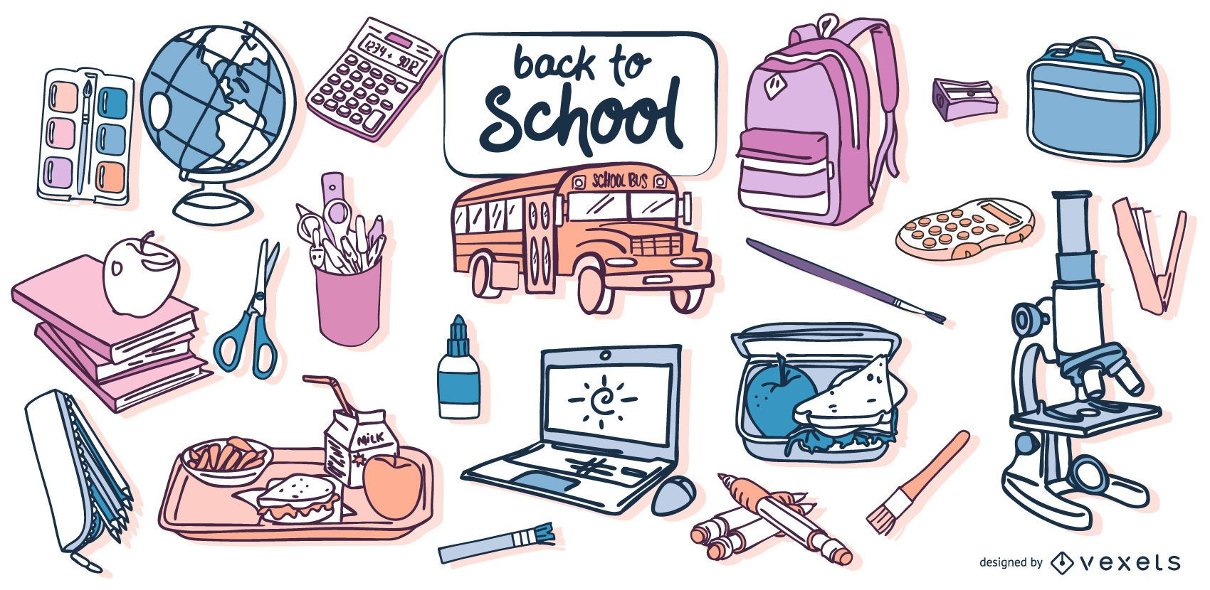 Back to School Vector Design