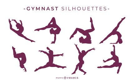 Gymnast Silhouette Collection