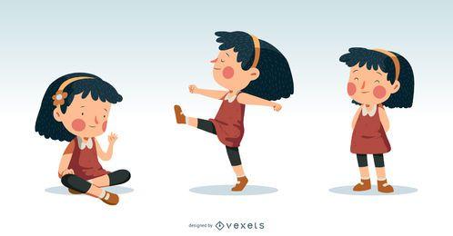 Diseño de ilustración de niña pequeña