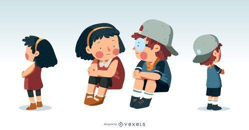 Ilustração bonito de crianças