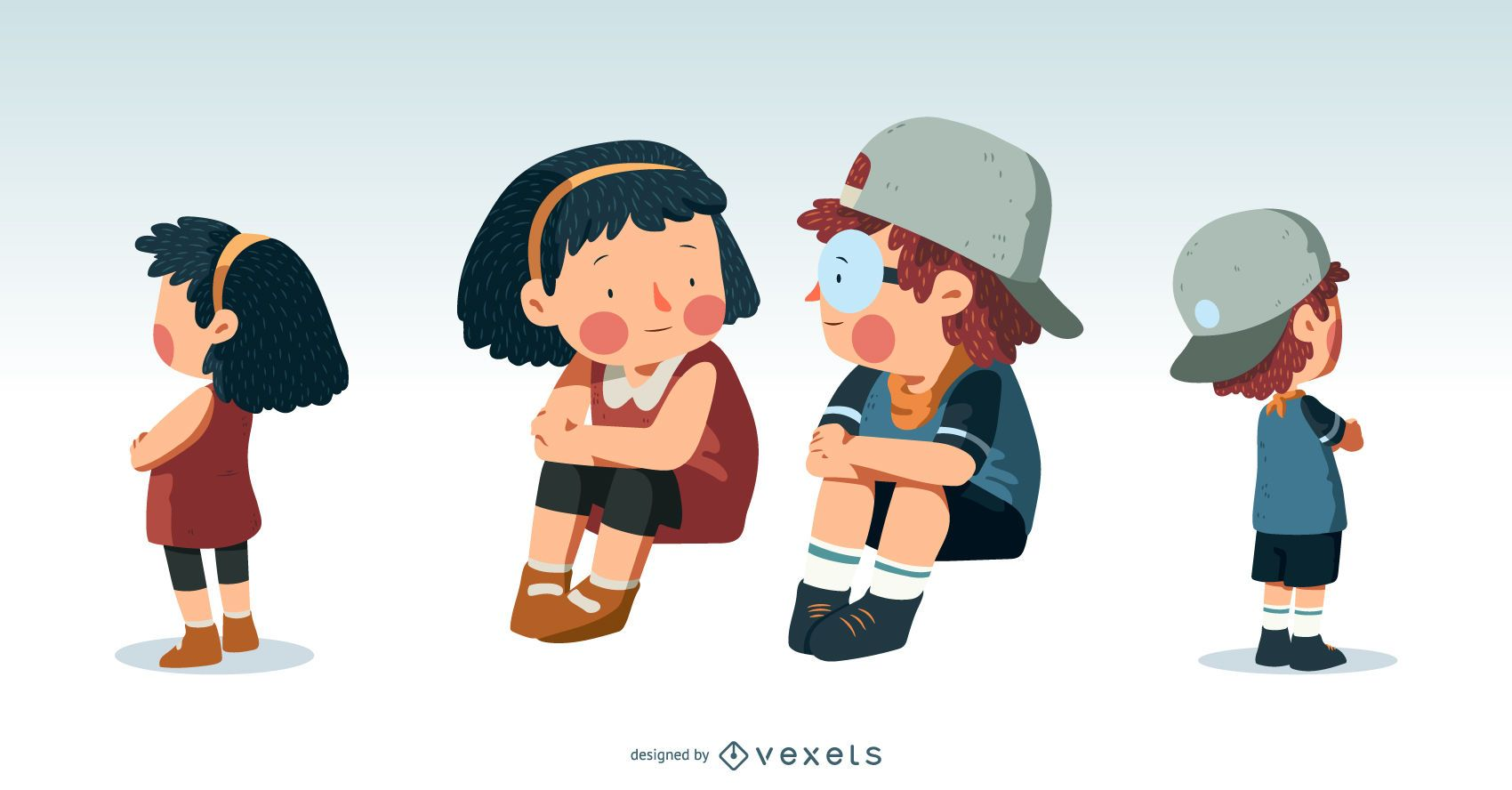 Cute Kids Illustration