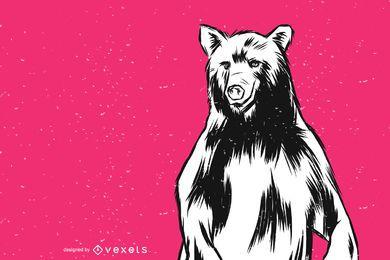 Ilustração em vetor de urso em pé