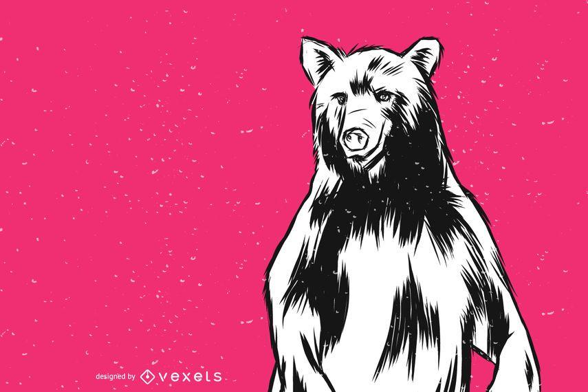 Pie oso ilustración vectorial