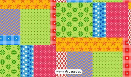 Patchwork Pattern Illustration