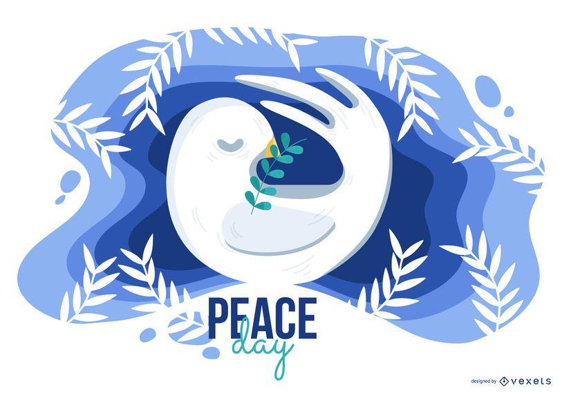 Ilustração do dia da paz