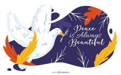 A paz é sempre linda ilustração