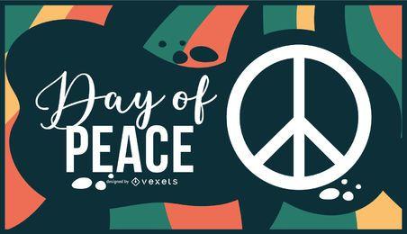 Tag des Friedensillustrationsdesigns