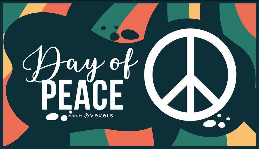 Dia de la paz ilustración diseño