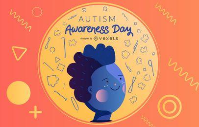 Vector del día de la conciencia del autismo