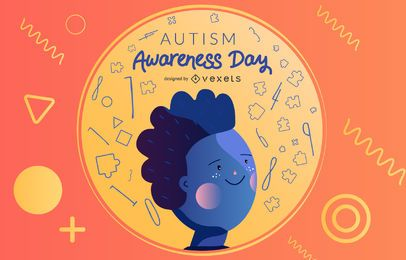 Vetor de dia de conscientização do autismo