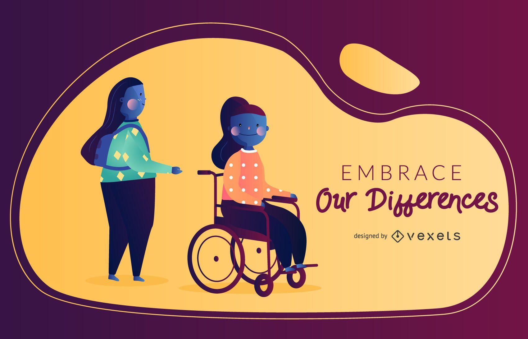 Disability Vector Illustration