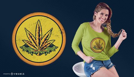 Projeto do t-shirt da moeda da erva daninha