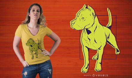 Diseño de camiseta de pie Pitbull
