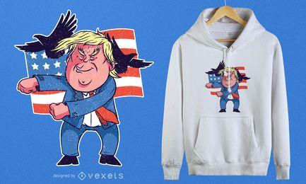 Diseño de camiseta Dancing Trump