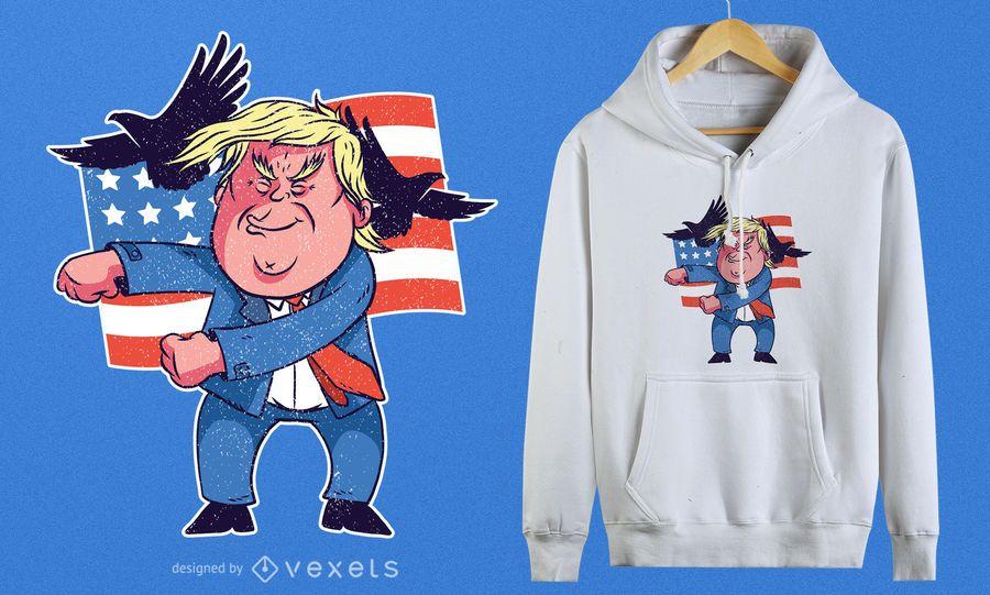 Dancing Trump T-Shirt Design