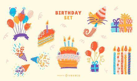 Conjunto de elementos de cumpleaños