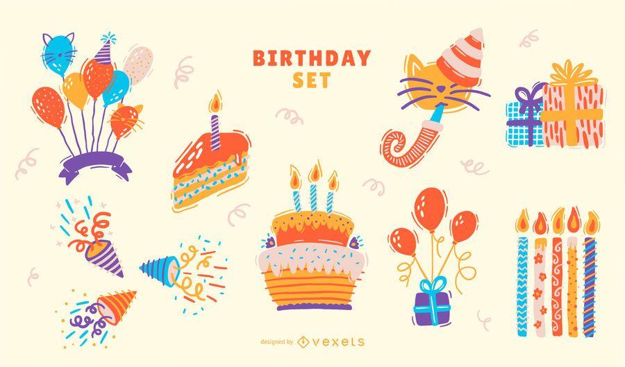 Birthday Elements Set