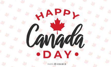 Feliz día de Canadá diseño