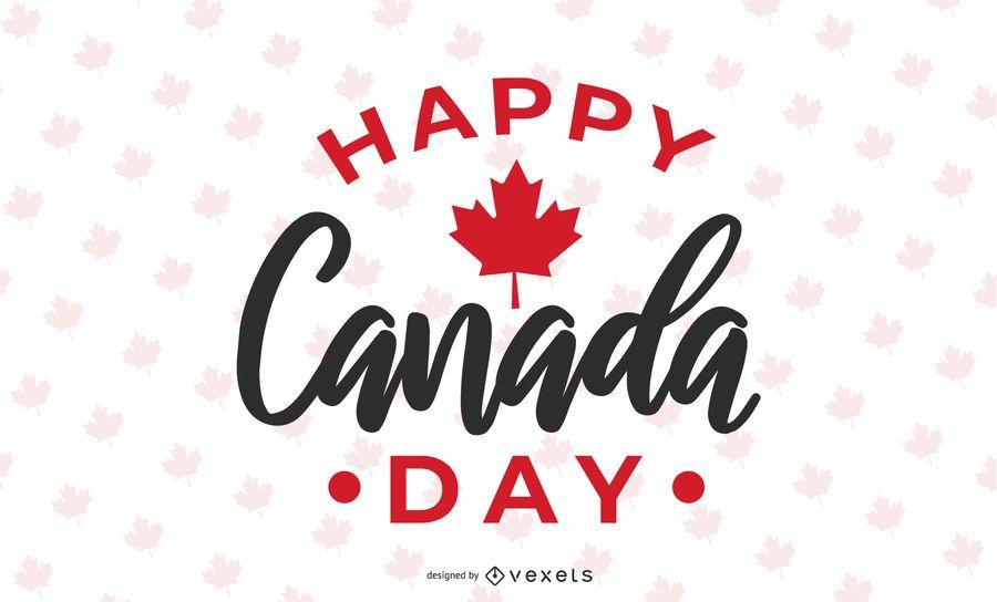 Feliz Dia do Canadá Design