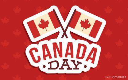 Diseño de fondo del día de Canadá