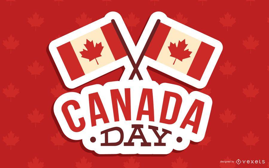 Día de Canadá diseño de fondo
