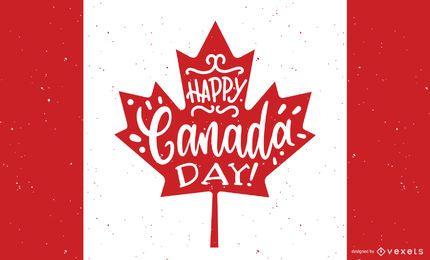 Diseño de fondo feliz día de Canadá