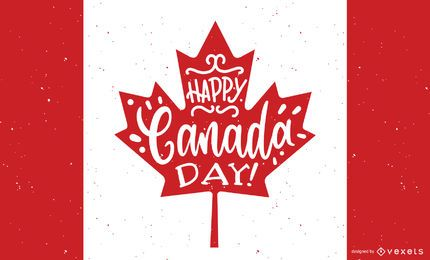 Happy Canada Day Background Design